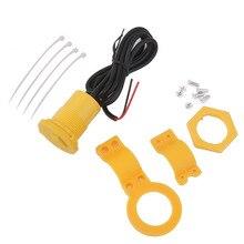 Водонепроницаемый 12V автомобиль мотоцикл USB Мощность Зарядное устройство для подключения к розетке 5 V/1.5A желтого цвета