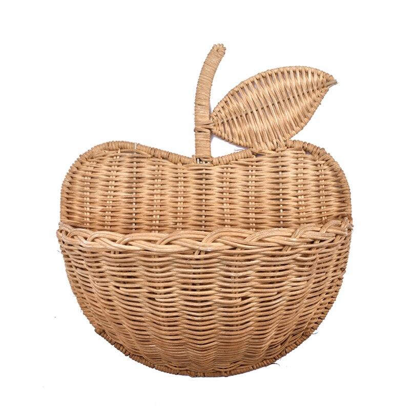 Handmade Rattan Basket Totes Eco-friendly Home Cute Kids Storage Picnic Handbag Woman Wicker Hand-woven Clutch