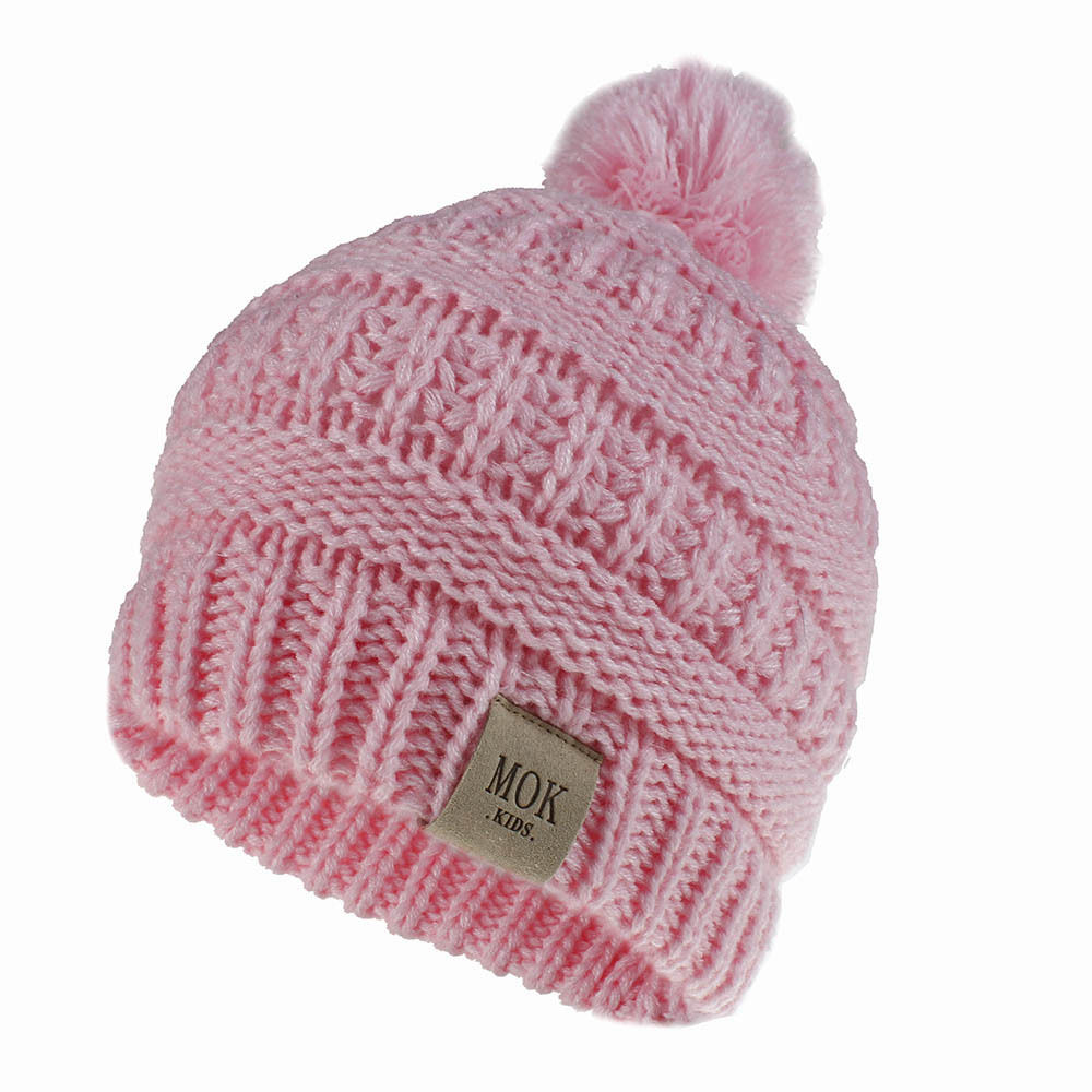 Kids Winter Hat Baby Pompom Hats Candy Soft Child Knitting Crochet Keep Warm Children Cap Unisex Skullies Beanies H200D 1