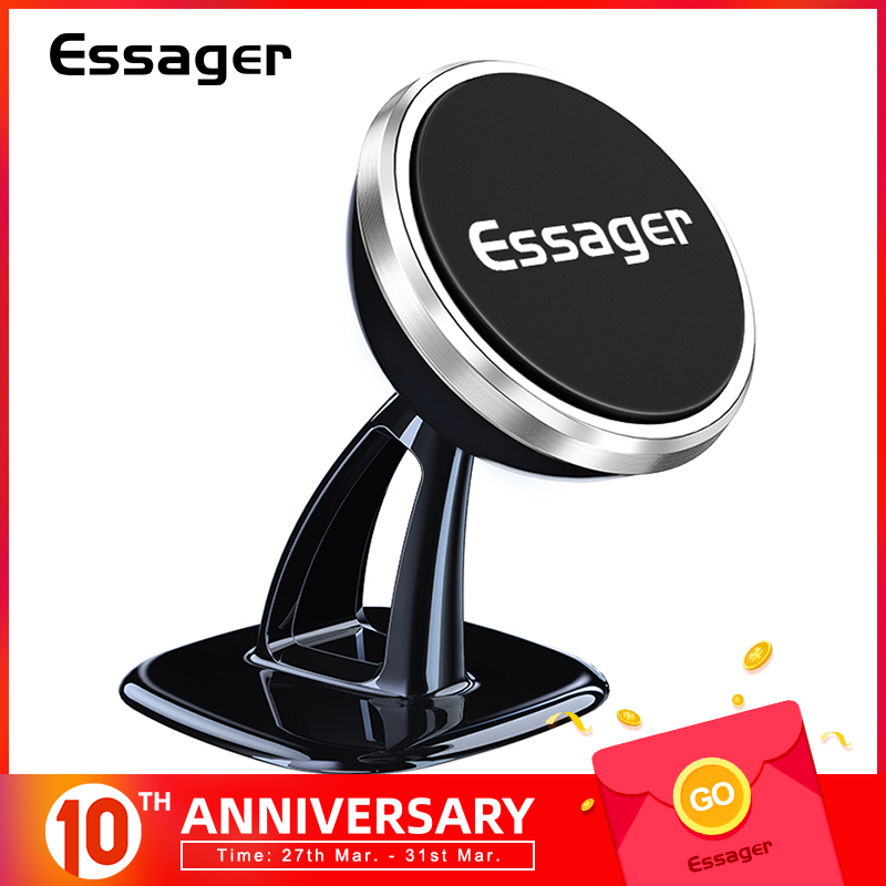 Essager Magnetic Car Phone Holder For IPhone Universal Car Holder For Phone In Car Magnet Mount Cell Mobile Phone Holder Stand