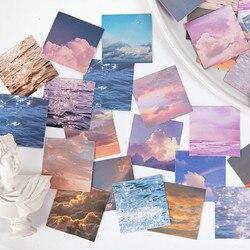 45 sztuk Kawaii magnes na lodówkę naklejki ścienne taśma podstawowy kolor taśma papierowa taśma klejąca DIY dekoracyjne etykiety taśmy papiernicze