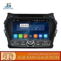 JDASTON Android 9.0 Car DVD Player For Hyundai IX45/Santa fe 2013 2014 WIFI Multimedia GPS Stereo 2 Din Car Radio tape recorder