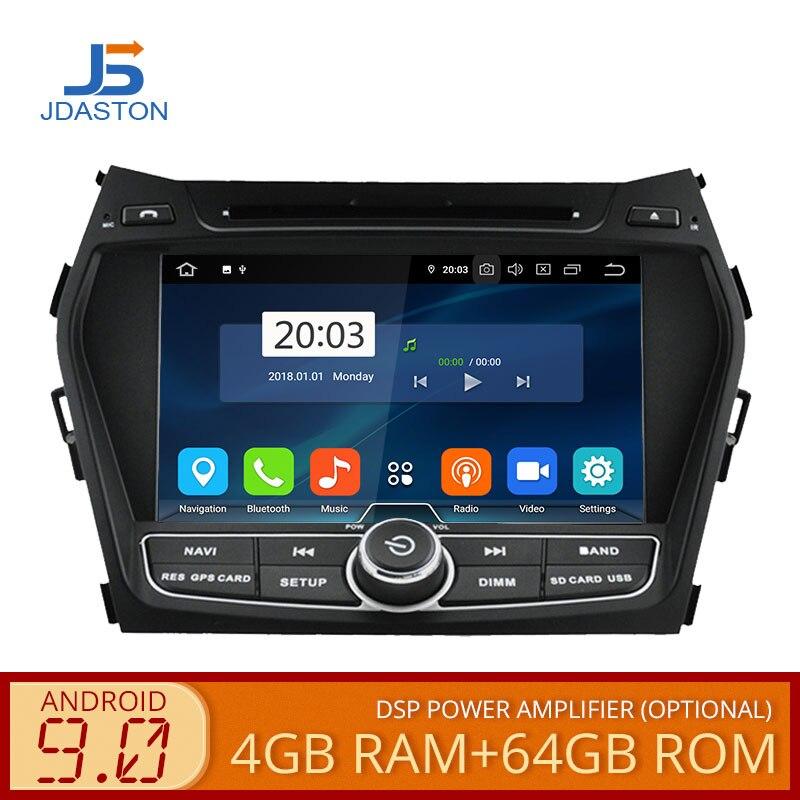 JDASTON Android 9.0 Jogador Do Carro DVD Para Hyundai IX45/Santa fe 2013 2014 WIFI GPS Multimídia Estéreo 2 Din carro gravador de Rádio
