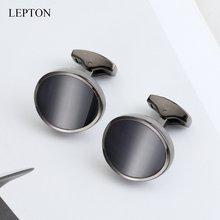 Каменные запонки lepton для мужчин роскошные под смокинг кошачий