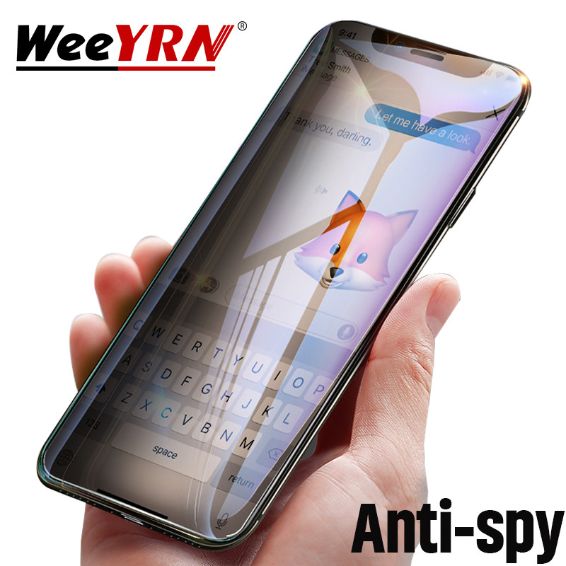 Anti Spy Tempered Glass For IPhone 11 Pro X XS Max XR Privacy Screen Protector Film For IPhone 7 6 6S 8 Plus Protective Glass