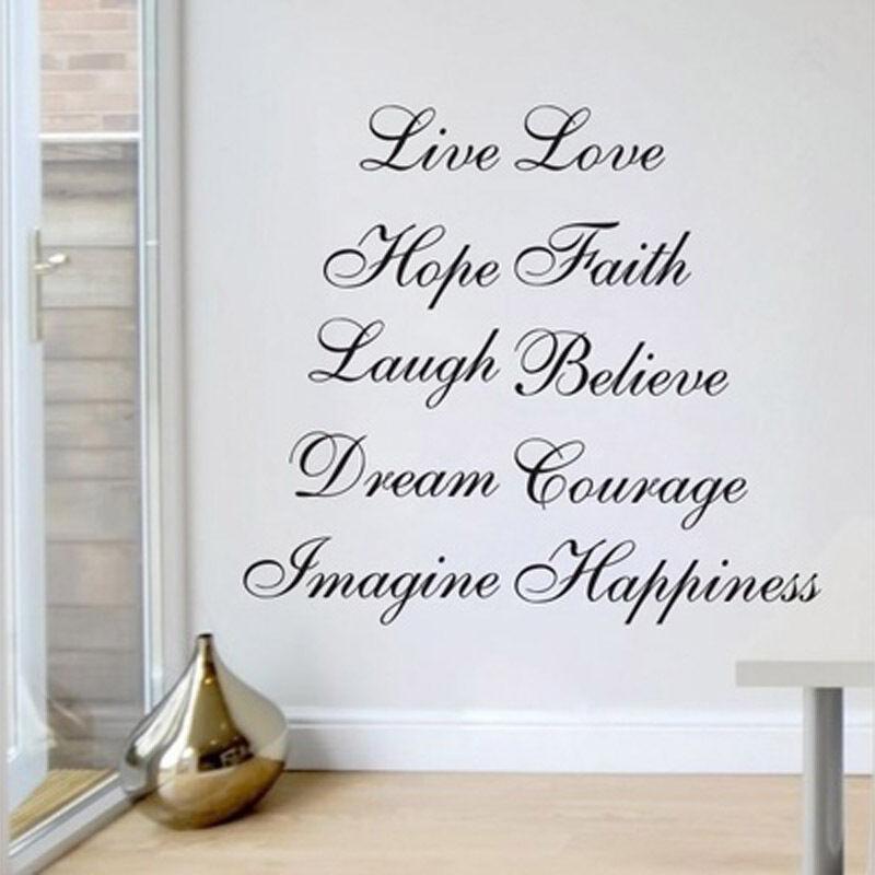 Wall Sticker Live Laugh Love Dream
