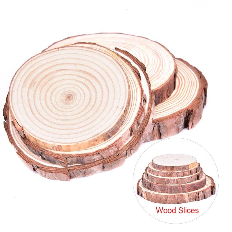 1 шт. 8-16 см круглые необработанные деревянные ломтики из натуральной сосны круги с корой дерева деревянные диски «сделай сам» ремесла роспи...