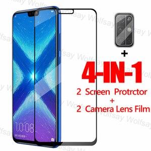 Image 1 - 2,5 D Volle Abdeckung Screen Protector Für Huawei Honor 9A 9C 9S X10 8X 9X 20 Lite Glas Für huawei Y9S Y8P Y7P Y6P Y5P Gehärtetem Glas