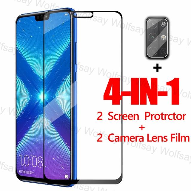 2,5 D Volle Abdeckung Screen Protector Für Huawei Honor 9A 9C 9S X10 8X 9X 20 Lite Glas Für huawei Y9S Y8P Y7P Y6P Y5P Gehärtetem Glas