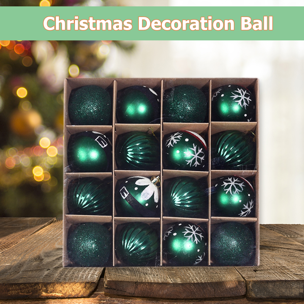 16 x Christmas Tree Baubles 4