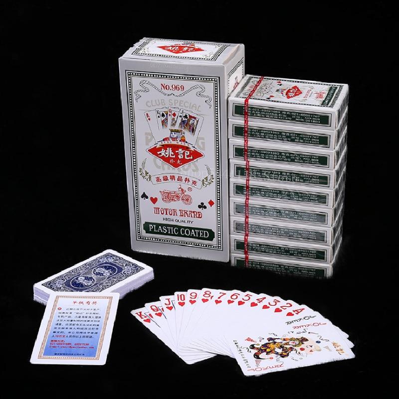 10 pçs/set cartão de poker cartões de jogo de plástico cartão de poker jogo adulto jogando cartão de jogo novo