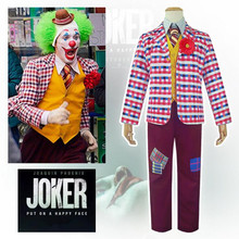 Movie Joker Joaquin Phoenix Arthur Fleck Halloween Cosplay Costume Coat Shirt