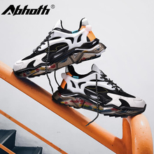 Abhoth 2020 Man Casual Shoes Height Increasing Hard-wearing Fashion Men Chunky Sneakers Autumn Breathable Zapatos De Hombre