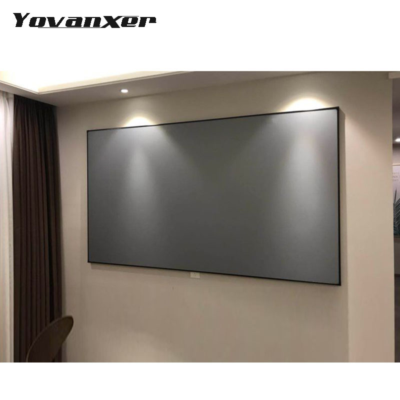 Projeksiyon ekranları 72 84 100 120 inç 169 43 XGIMI H1 H2 H1S Z6 Z5 Z3 JMGO J6S E8 UNIC UC40 UC46 projektör