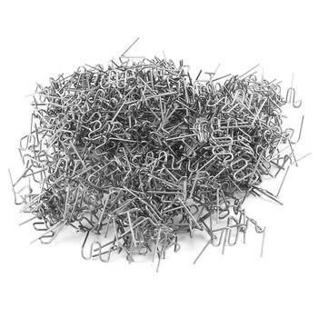 Universal 100 unids/set precortado 0,6mm-0,8mm grapas planas de onda caliente para herramienta de reparación de soldador de reparación de engrapadora de plástico