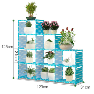 Image 2 - DIY Assemble Book Shelf Non woven Fabric Storage Rack Removable Book Stand Holder Sundries Organizer Display Shelf for Home