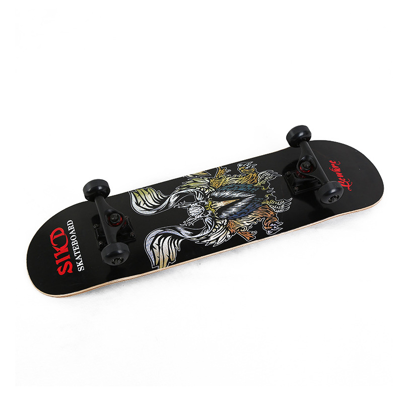 Manufacturers Supply Dynamic Maple Skateboard Four Wheel Skateboard Double Snubby Skateboard Adult Profession Scooter
