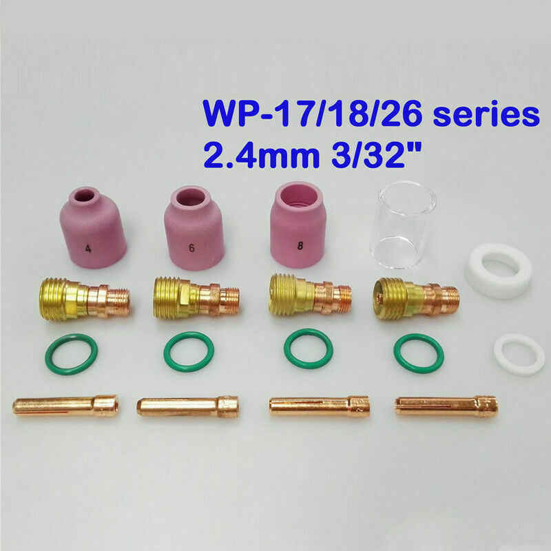 5x TIG Welding Torch Stubby Gas Lens Kit for Tig WP-17//18//26 Series