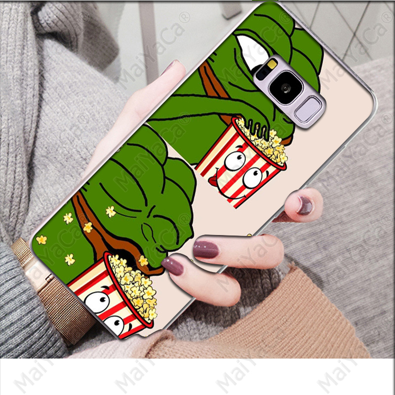 MaiYaCa Pepe Memes Sad Frog Novelty Fundas Phone Case Cover for Samsung S9 S9 Plus S8 S8plus S7 S6 S5 Cover in Half wrapped Cases from Cellphones Telecommunications