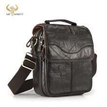 Jakość oryginalna skóra mężczyzna dorywczo torba na ramię skóra bydlęca moda Cross-torebka 8