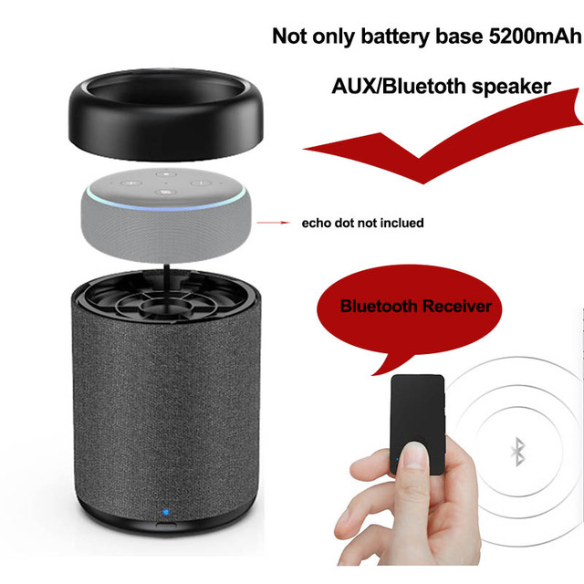 Echo Dot 3rd Gen With Battery Base