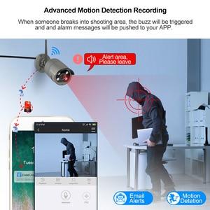 Image 4 - Techage 4CH 1080P Drahtlose Kamera NVR System 2MP Wifi 4 Array LED 2 Weg Audio Sound Video Im Freien sicherheit Überwachung CCTV Kit