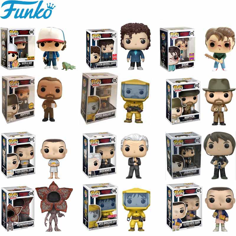 Funko POP Toys Stranger Things Eleven Little Eleven Eggos Collection Model PVC Action Figures Toys For Chlidren Brinquedos 2F33