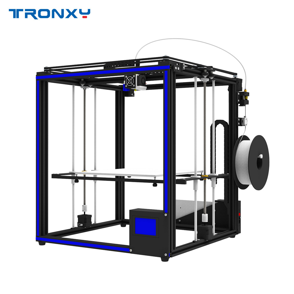 Tronxy High Accuracy 3D Printer DIY Kit with Heatbed Support Auto Leveling Resume Printing Filament Run Out Detection 3D Printer