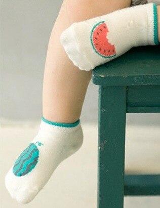 2018 New Style Children's Socks Men And Women Baby Cute Cartoon Watermelon Pineapple Fruit Short Socks Children Colored Cotton C