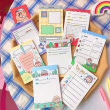 Yisuremia 50 folhas kawaii cartoon memo pads nota papel a fazer lista diário planejador notepads paperlaria escola papelaria