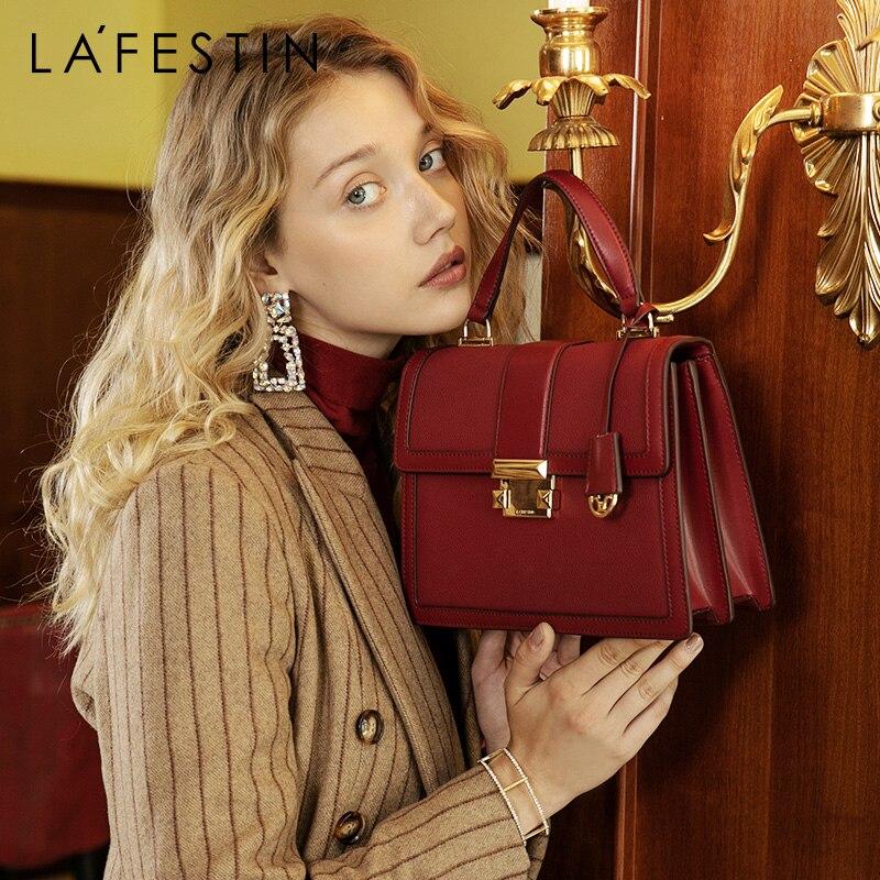 LAFESTIN 2019 New Luxury Handbags Fashion Leather Handbag Qualities Shoulder Messenger Bag Ladies Tote Bolsa Feminina