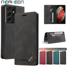 Magnetic Flip Leather case For Samsung Galaxy Note20 S21 S20 FE Ultra S10 S9 S8 Note 20 10 9 8 Plus A6 A7 A8 2018 Wallet Cover