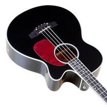 4 ciąg gitara akustyczna gitara basowa gitara wysoki połysk akustyczna gitara basowa 43 cal naturalny kolor czarny kolor pełny wymiar gitara basowa z EQ