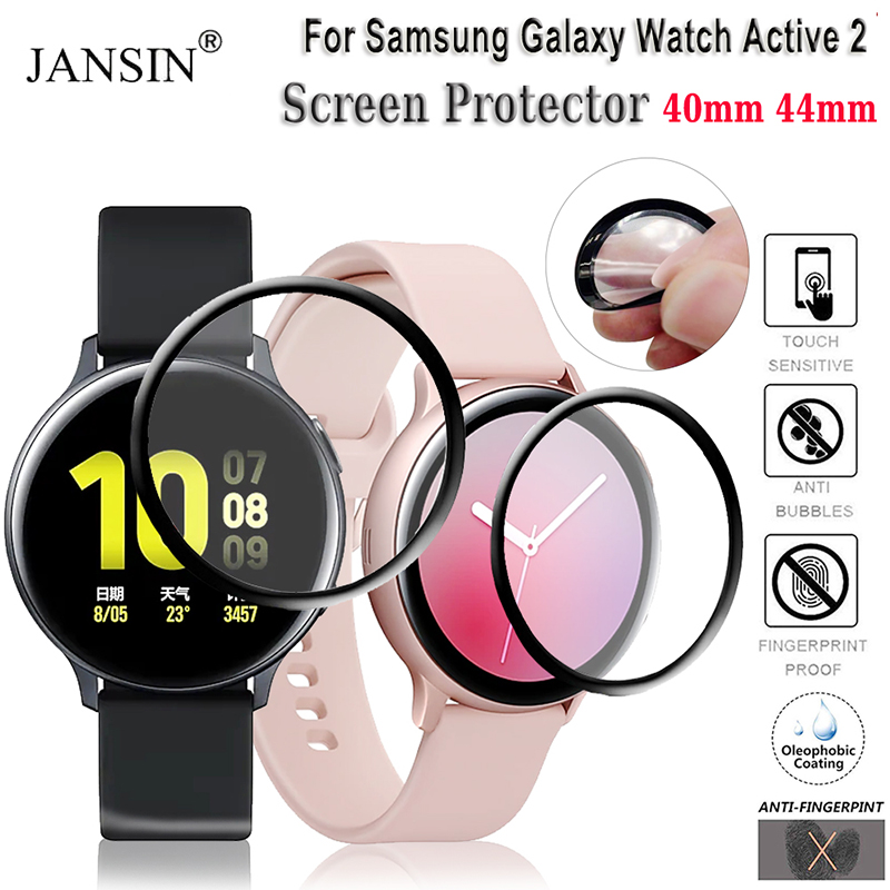 TPU Full Screen Protector film For Samsung Galaxy Watch Active 2 40mm 44mm Anti-Bubble Soft Round Edge Screen Protector Cover