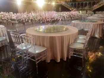 4 Pieces Clear Crystal Chairs High Quality Transparent Wedding Event Clear Chair Simple Modern Hotel Wedding Chair Fast Shipping