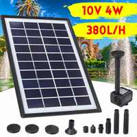 4W 380L/H Water Pump 10V Solar Floating Fountain Submersible Waterfall Water Fountain Solar Panel Set For Garden Fish Pond