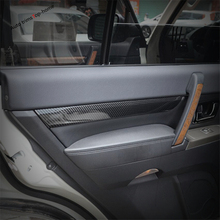 seahorse car front bumper grill chrome trim molding decorative cover for mitsubishi pajero montero v93 v97 v98 2015 2016 2017 Yimaautotrims Inner Door Armrest Handle Panel Cover Kit Trim Fit For Mitsubishi Pajero V97 V93 V80 Montero Limited 2009 - 2020