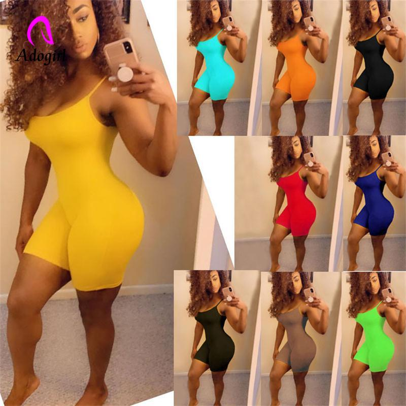 Spaghetti Strapless Rompers Backless Night Party Club Skinny Short Jumpsuit Fitness Women Sport Outfit Playsuit Romper Tracksuit