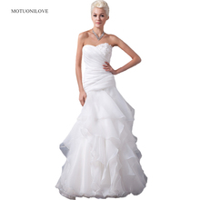 Princess Wedding Dresses 2019 New Organza Flouncing Ruffles Sweetheart Women Dress Mariage Gowns vestidos novias boda