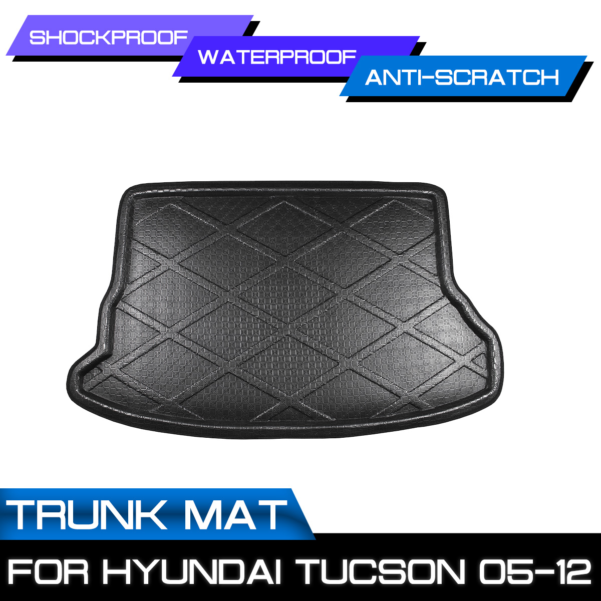 Carpet 2006 Tucson Hyundai Floor-Mat Anti-Mud-Cover 2008 2007 for Trunk 2005 Rear title=
