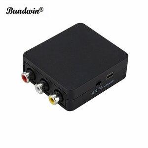 Image 5 - Bundwin MINI HDMI RCA AV/CVBS kompozit Video AV dönüştürücü adaptör HDMI2AV TV VHS VCR DVD sıcak satış