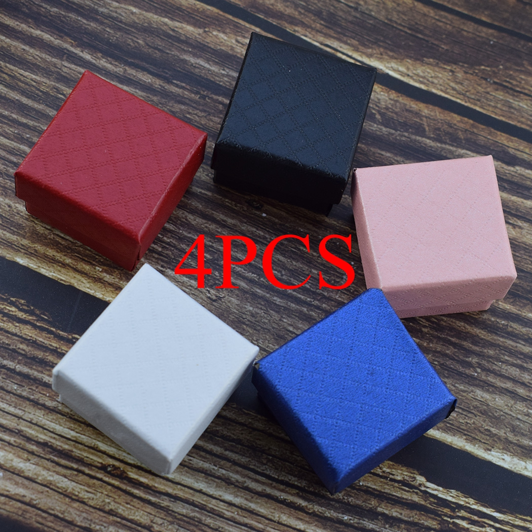 4pcs/lot Gift Boxes Wedding Party Candy Box Cufflinks Rings Earrings Jewelry Storage Box Jewelry Packing Display Wholesale