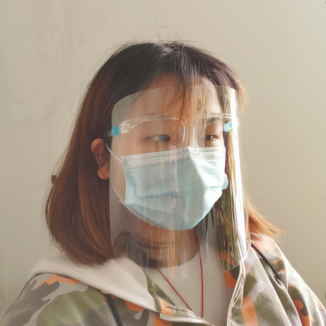 Anti-Saliva Dustproof Mask Transparent  Safety Faces Shields Screen Spare Visors Head Face Respiratory tract Protection