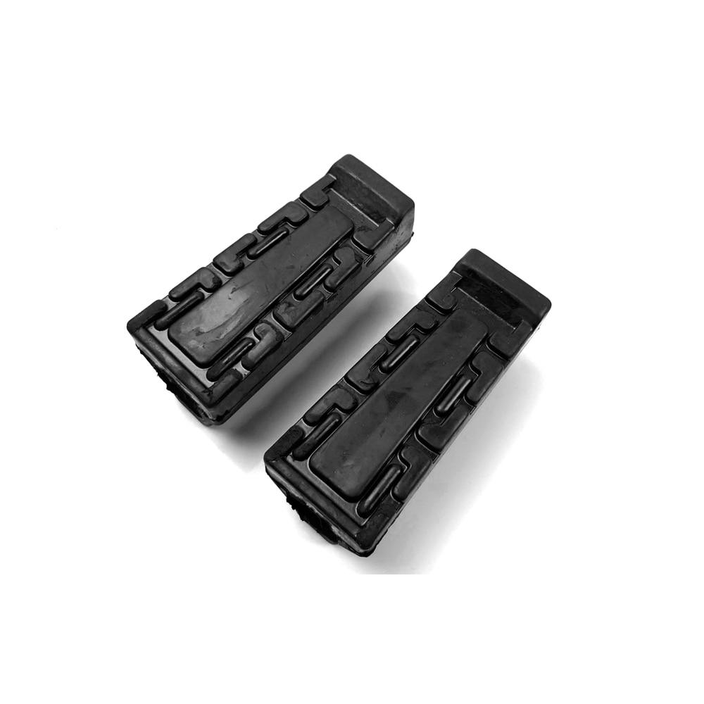 2Pcs Black Front Foot Rest Peg Rubbers Footrest Handlebars For Yamaha YBR 125 High Quality