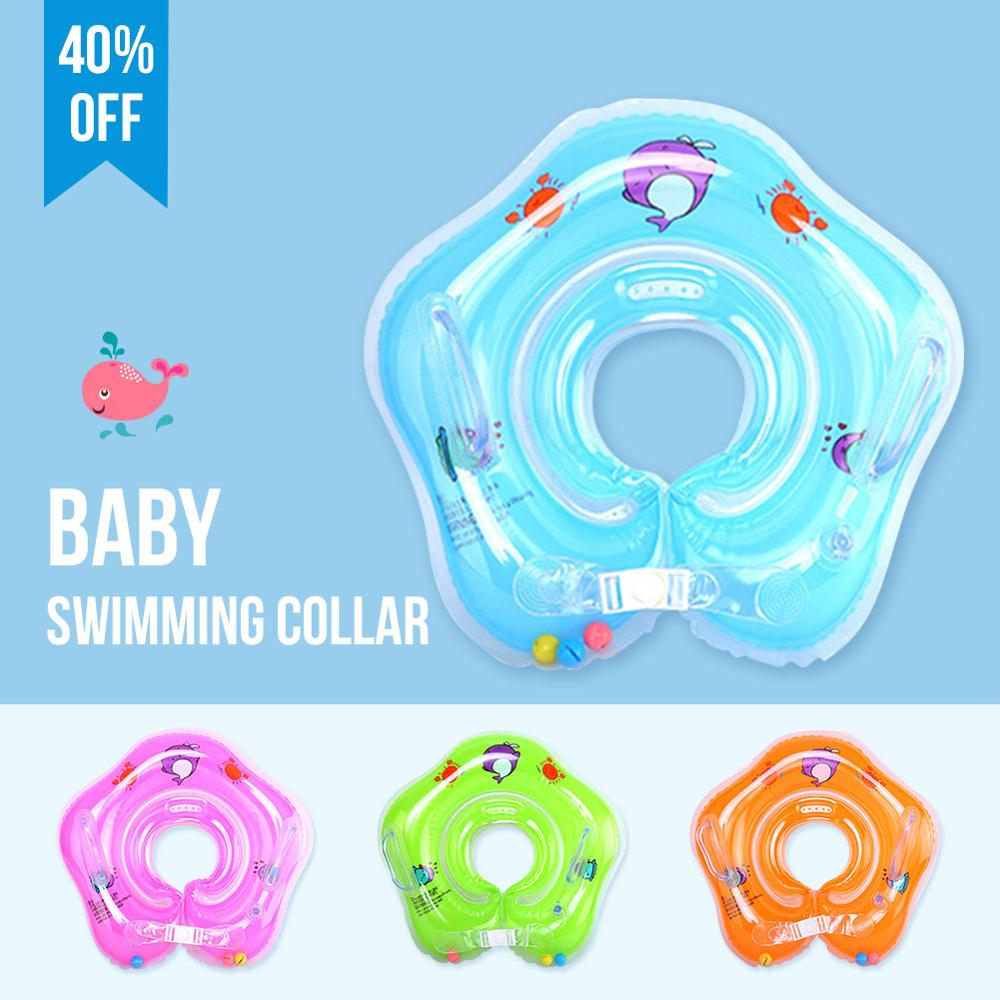 Swimming Baby Accessories Neck Ring Tube Safety Infant Float Circle Child Safety Ring Float Bath Inflatable Ring Swimming Collar