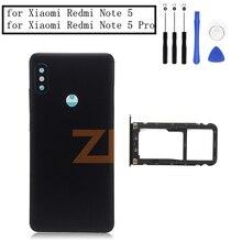 を Xiaomi Redmi 注 5/注 5 Pro のバッテリードア裏表紙 + サイドキーカードトレイホルダー交換部品