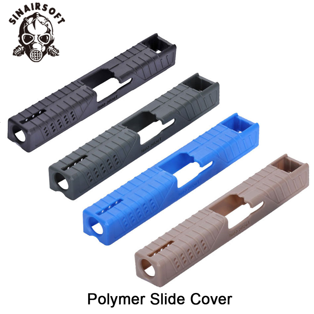 Hot Black Polymer Slide Cover Pistol Case Tactic Skin Coat Fit Glock 17/22/31/37 For Paintball Hunting Shooting Accessories