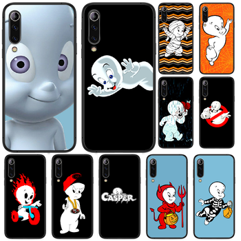 Cartoon Casper cute genius Phone case For Xiaomi Mi note 10 A3 9 MAX 3 A2 8 9 Lite Pro ultra black coque trend cover painting image
