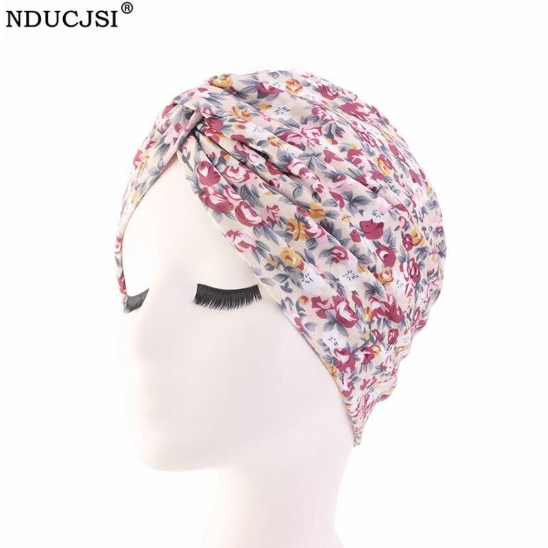 2 St/ück Beanie M/ütze Turban Damen Aus Elastisches Printed Schlafm/ütze Turban Kappe Hut/Kopftuch f/ür Chemo Haarverlust Krebs Cancer Haarausfall Muslim