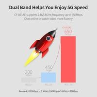אנטנה עבור USB Wifi מתאם 650Mbps Wireless Network Card Ethernet אנטנה Wifi כונס ננו LAN AC Band Dual 2.4 + 5GHz עבור Dongle למחשב Wifi (3)